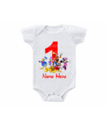 Mickey Mouse And Friends Birthday Onesie Custom Name Shirt 1st 2nd 3rd ... - $15.00