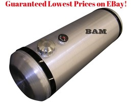 SPUN ALUMINUM GAS TANK 8 INCH  SITE GAUGE WITH WELD-ON ALUMINUM MOUNTING BUNG