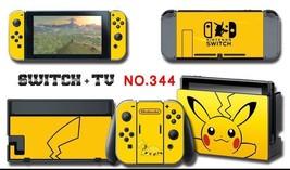 New 2018 Vinyl Decal Skin Sticker Protector for Nintendo Switch Pokemon Pikachu - $10.07