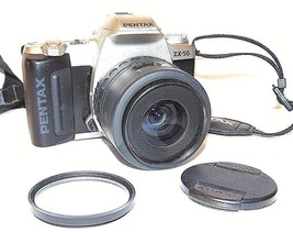 Pentax ZX-50 35mm SLR Film Camera with Pentax-F 35-80mm F4-5.6 Lens - $58.41
