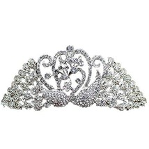 Elegant Dazzle Sliver Alloy Wedding Hair Comb Crown Headband