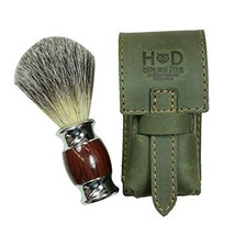 Hide & Drink, Thick Leather Shaving Brush Case, Travel Protective Sleeve, Handma