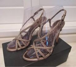 Bcbg Max Azria Shoes Size: 10 M New Sandals Norwich Platinum Metallic Ship Free - $299.00