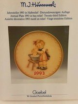 Hummel 1993 Annual Collector's Plate 23rd In Series With Original Box  - $31.67