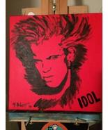 BILLY IDOL ORIGINAL POP ART ON 11X14 STRETCHED CANVAS - $94.99