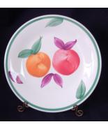 "Furio Tre Ci Italy Dinner Plate Fruit Red Orange White - 10.25"" - $4.00"