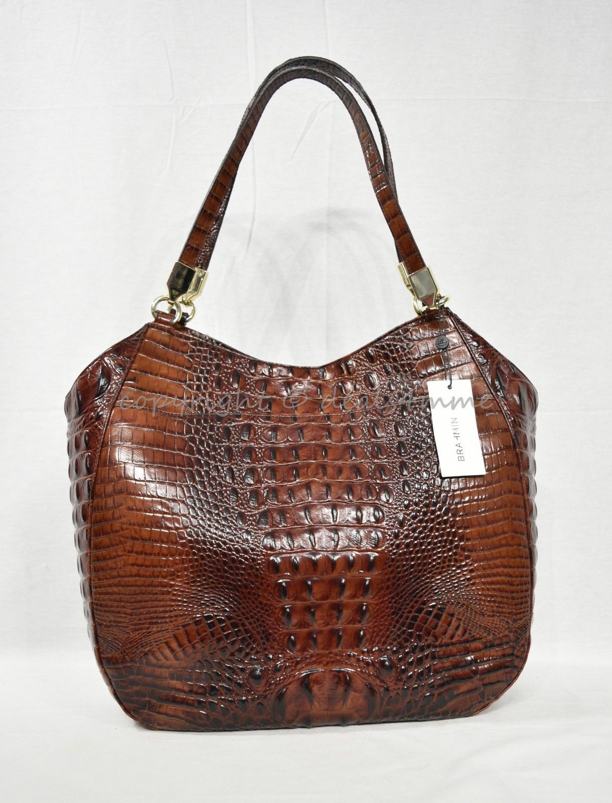 NWT Brahmin Thelma Tote / Shoulder Bag/Tote in Pecan Melbourne Embossed Leather image 3