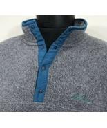 VTG LL Bean Fleece Jacket Pullover Snap T Grey Ski Sweatshirt Men's XL U... - $29.99