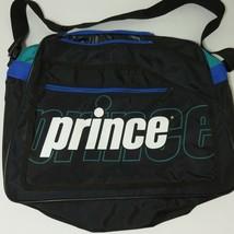 Prince Tennis Racquet Bag Vintage 1990's Mutli Colored Black Green Blue - $37.09
