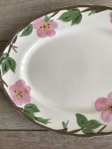 """Franciscan Desert Rose Dinnerware Platter 14"""" x 10"""" Long New Modern Stamp image 2"""