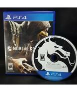 Mortal Kombat X 10 MK -  PS4 Sony Playstation 4  GAME Tested  - $13.85