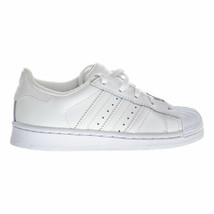 Adidas Superstar White/White BA8380 Leather Preschool KIDS Shoes - $49.95