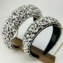Headbands For Women Retro Floral Rhinestones  Pearl Crystal Girl Style H... - $25.38+