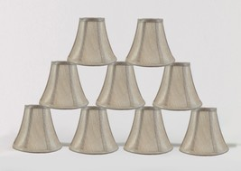 "Urbanest Chandelier Mini Lamp Shade Softback Bell Champagne 3""x6""x5"" set of 9 - $46.52"