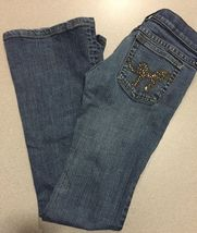 Juicy Couture Jeans Girls Size 24 Distressed Boot Cut image 12