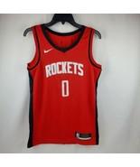 Nike Men NBA Rockets Westbrook Red Authentic Swingman Jersey CW3666 657 Size S - $85.45