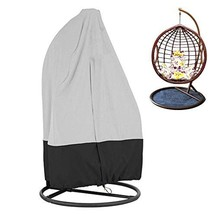 KIKIGOAL Outdoor Patio Hanging Chair Cover Wicker Egg Swing Chair Covers... - $29.74