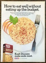 1976 Kraft Dinners Print Ad Egg Noodle With Chicken Make Ends Meet - $10.69