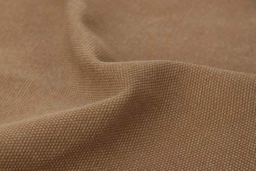 43'' Wide Handworked Fabric Thick Canvas Fabric Khaki (17.5 43 Inches)