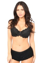Black Velvet Ruffle Panty ~ (includes plus sizes) - $34.99