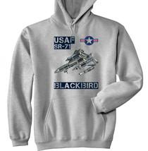 USAF SR-71 BLACKBIRD - NEW COTTON GREY HOODIE - ALL SIZES IN STOCK - $40.38