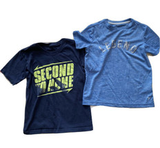 Old Navy Active Shirt Athletic Tee Lot Boys 6 7 Blue Go Dry Legend - $9.89