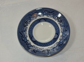 """Vintage Churchill England Blue Willow White Saucer 5 1/2""""~ - $20.78"""