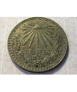 VTG 1934 Mexico Un Peso 1P .720 Silver Coin Eagle with Snake - $39.60