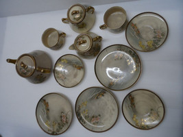 Outstanding Antique Japanese Satsuma Porcelain Hand-Painted Tea Set  Lot... - $244.76