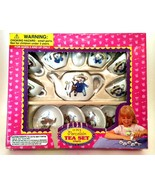 Miniature Tea Set Porcelain 13 Pieces Vintage Toy Doll Dishes Age 3+ - $18.81