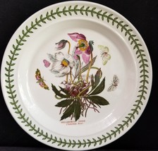 "Portmeirion Botanic Garden Christmas Rose Dinner Plate 10.5"" England Mint - $50.96"
