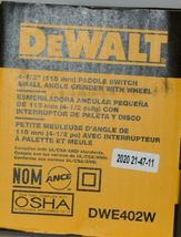DeWalt DWE402W 4 1/2 inch Paddle Switch Small Angle Grinder with Wheel Corded image 6