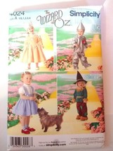 Simplicity 4024 Size 1/2-4 Toddlers Wizard of Oz Costumes Tin Man Doroth... - $11.64