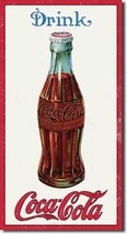 Coca Cola Coke 1915 Bottle  Advertising Vintage Retro Style Metal Tin Si... - $14.99
