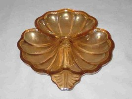"""Neat Vintage 6 1/4"""" X 7"""" Iridescent CLOVER Dish Divided - $16.39"""
