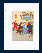 Wee Folk Elves Love To RAVE Mid 1930s Illustrated Children's Book Litho Book Art - $17.90