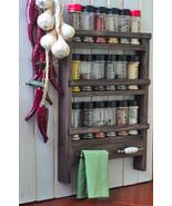 Wall Mount Wooden Spice Rack & Towel Holders - Oak Style finish, Simple ... - $46.99