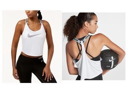 Nike Dry Cropped Training Tank Top White Size XL - $35 - NWT - $16.05