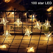 WONICE Star String Lights 100 LED 40 FT Plug in Fairy String Lights Wate... - $20.80