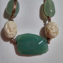 """Boho Hippie Gypsy Long Adjustable 16""""  36"""" Carved Faceted Glass Beaded Necklace - $14.85"""