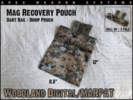 Custom NERF Gear - Mag Recovery Pouch / Dump Pouch / Dart Pouch - MARPAT - $7.99