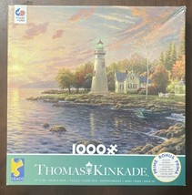 Thomas Kinkade 1000 Piece Jigsaw Puzzle #41044 - Serenity Cove - Lighthouse - $15.79