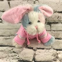 Ganz Webkinz Bunny Rabbit Plush Matching Pink Tracksuit Soft Stuffed Ani... - $14.84