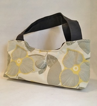 Morgan Floral Purse Chic Handbag Yellow Gray Flowers Handcrafted Bag Tot... - €76,29 EUR