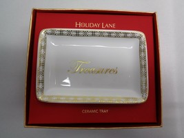 Charter Club TREASURES Ceramic Tray NEW Christmas Holiday Macys Holiday ... - $34.65