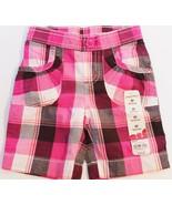 Jumping Beans Girls Toddler Bermuda Plaid Pink White Shorts 2T - $11.99