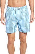 Southern Tide Men's Skipjack Gingham Swim Trunks, Ocean Channel (XXL)