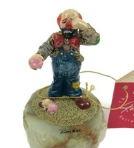 1989 Ron Lee Signed Dang It Crying Clown Metal Enamel Marble L-200 Limit... - $32.68