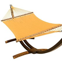 TOUCAN OUTDOOR 55 Inch Caribbean Rope Hammock, Golden Yellow - $74.10
