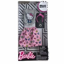 Barbie X Hello Kitty Deluxe Fashion Pack Outfit Gray Pink Kitty Alphabet... - $13.96
